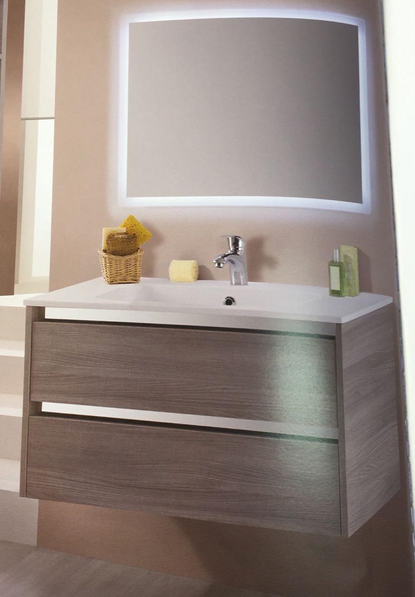 Mobile bagno Oregon con Specchio e luce incorporata